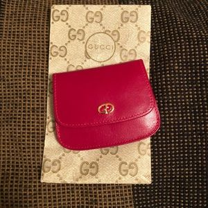 Gucci never used vintage coin purse